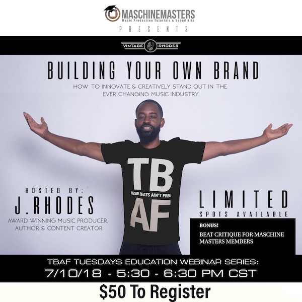 06ff89068f9 BYOB) Building Your Own Brand – Pre Registration – Maschine Masters